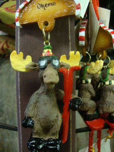 Skiing Moose Ornament